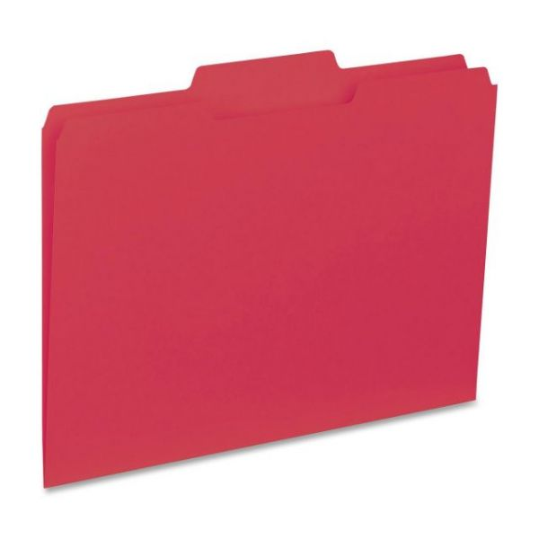 Business Source Red Colored File Folders