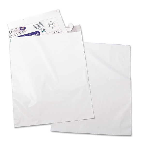Quality Park Redi-Strip Recycled Poly Mailer, Side Seam, 19 x 24, White, 50/pack