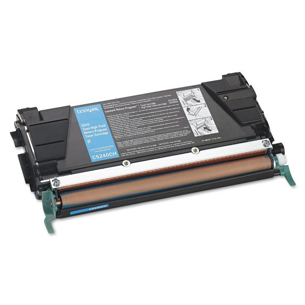 Lexmark C5240CH Cyan High Yield Return Program Toner Cartridge