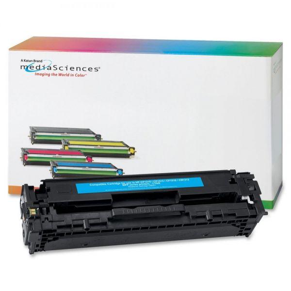 Media Sciences Remanufactured HP CB541A Cyan Toner Cartridge
