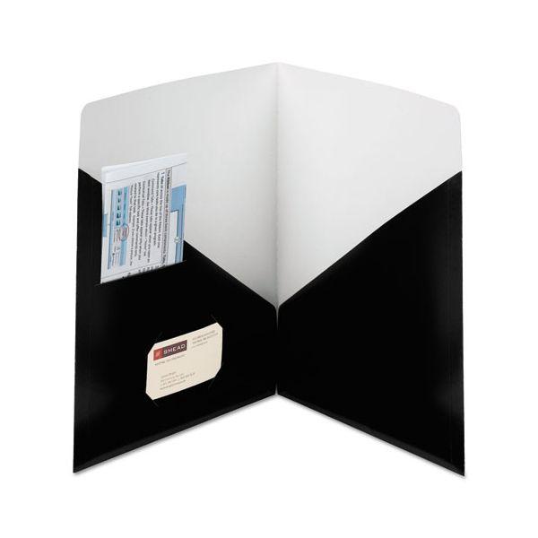 Smead Contemporary Classics Two-Pocket Folder, 11 x 8 1/2, Black, 25/Box