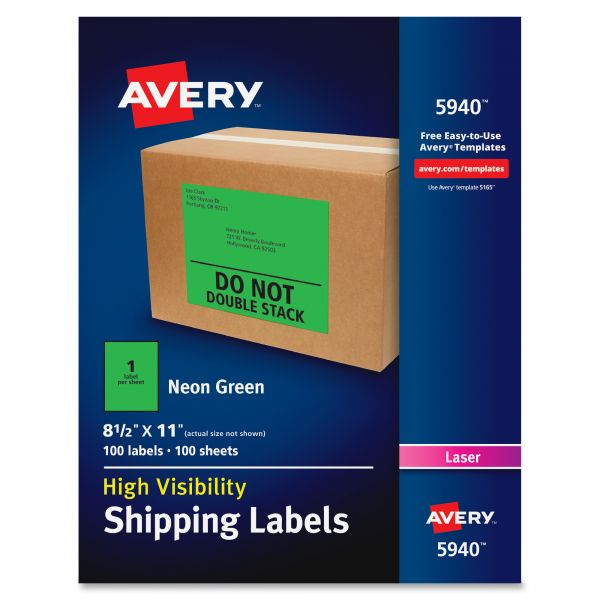 Avery 5940 Neon Shipping Labels