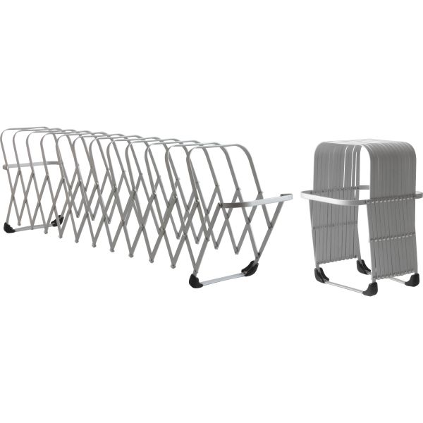 LEE Flexifile Expandable Collator/Organizer, 12 Slot, 6 x 6 3/4 x 10 1/2, Silver