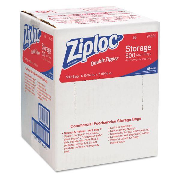 Ziploc Quart Size Double Zipper Storage Bags