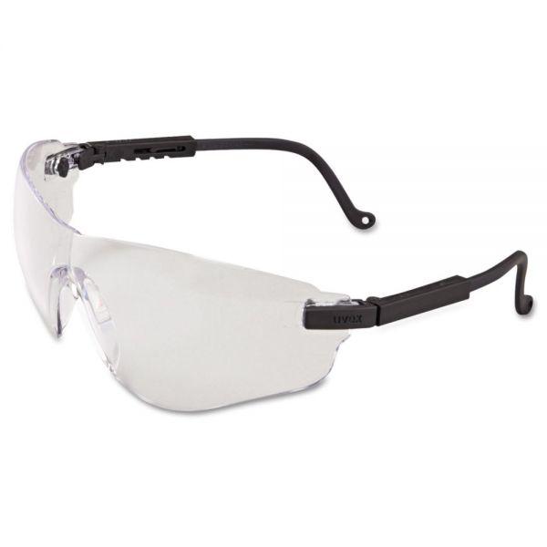 Uvex by Honeywell Falcon Eyewear, Black Frame, Clear XTR Lens