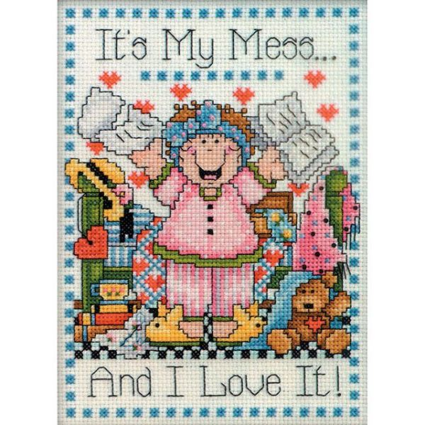 My Mess Counted Cross Stitch Kit