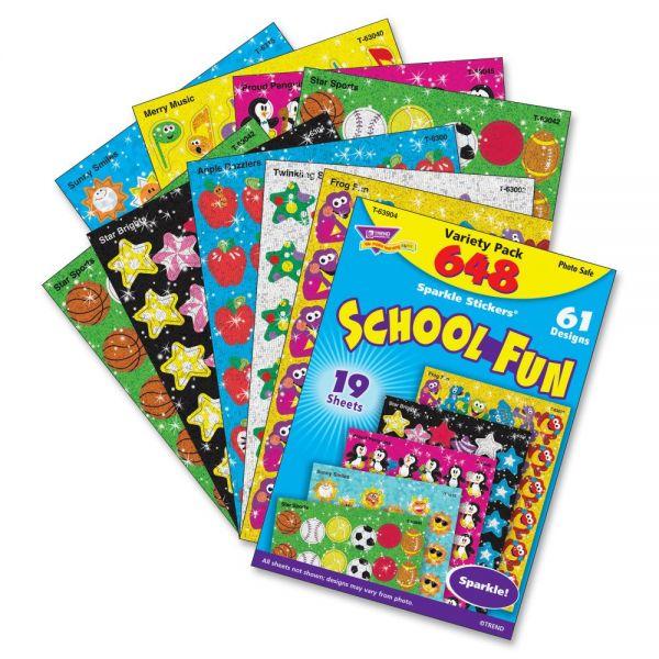 Trend School Fun Sparkle Stickers Variety Pack