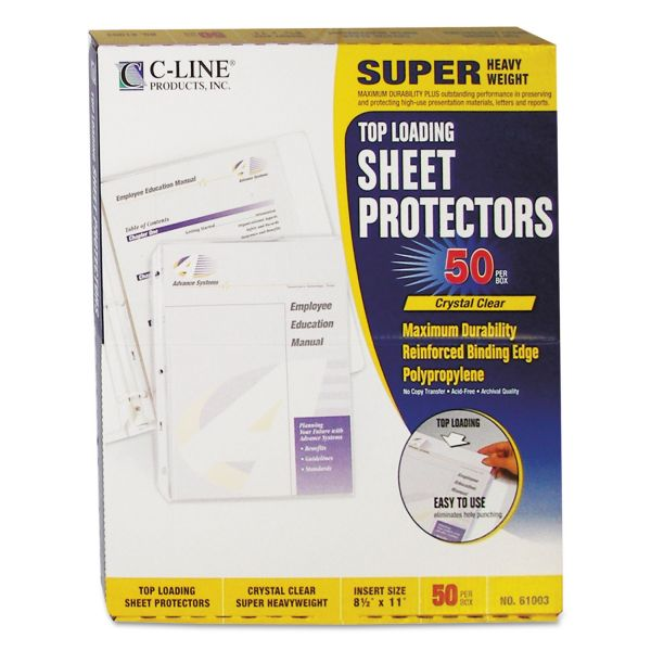 C-Line Top Loading Sheet Protectors