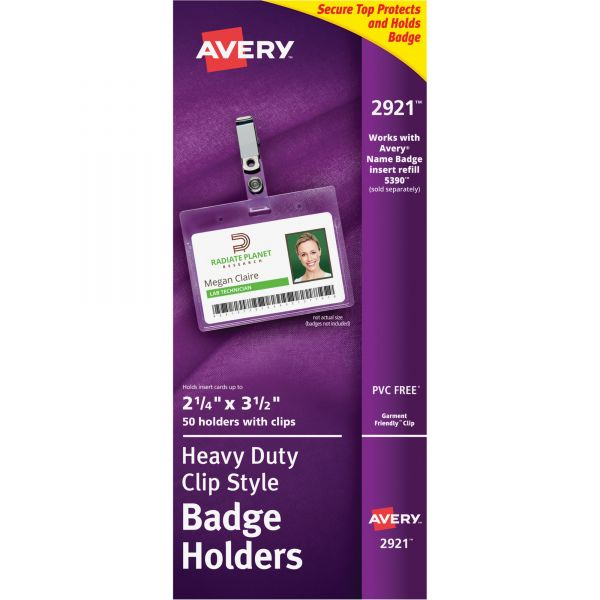 Avery Landscape Badge Holders with Clips