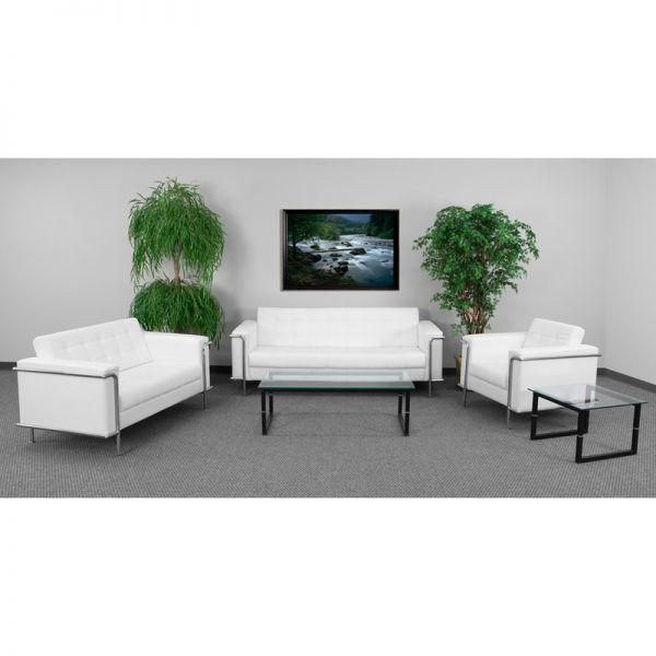 Flash Furniture HERCULES Lesley Series Reception Set in Melrose White
