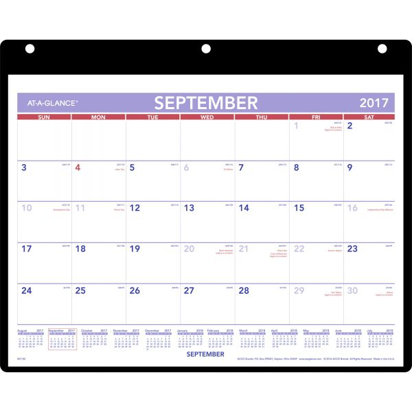 At-A-Glance Dated Monthly Wall Calendar