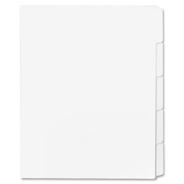 Sparco Straight Collated 5-Tab Index Dividers