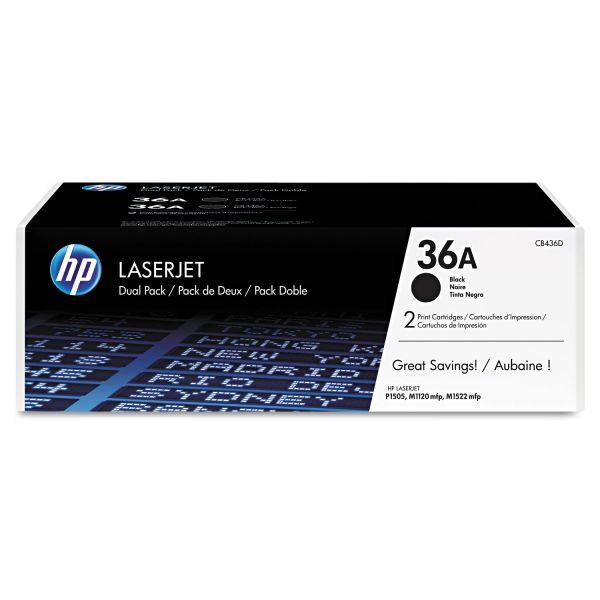 HP 36A Black Toner Cartridges (CB436D)