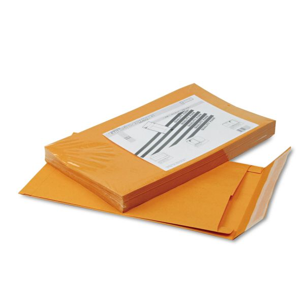 Quality Park Redi Strip Kraft Expansion Envelope, 10 x 15 x 2, Brown, 25/Pack