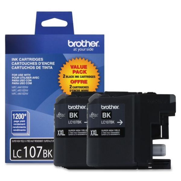 Brother LC107BK Black Super High Yield Ink Cartridges