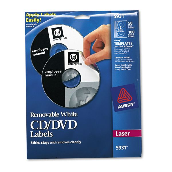 Avery Laser Printer Removable CD/DVD Labels