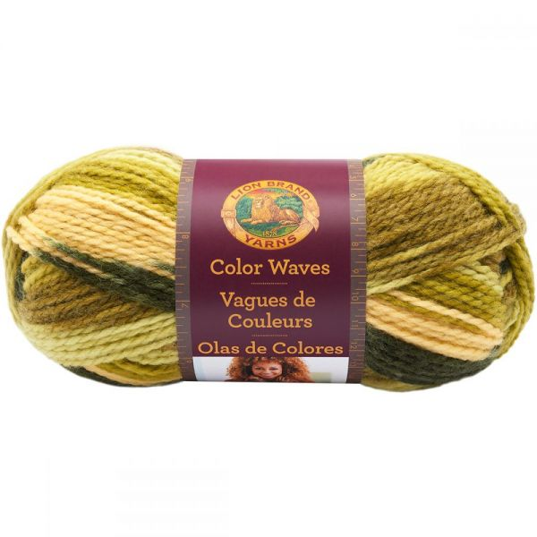 Lion Brand Color Waves Yarn - Green Apple