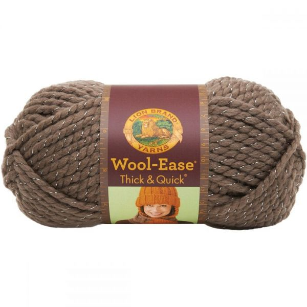 Lion Brand Wool-Ease Thick & Quick Yarn - Gemstone-Metallic