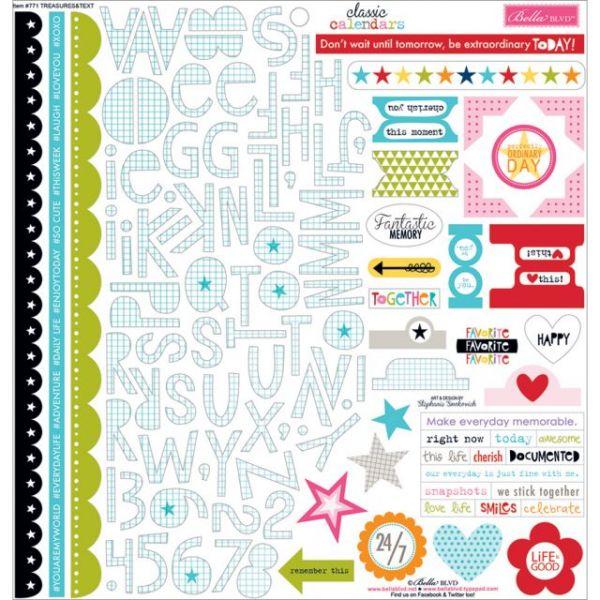 "Classic Calendars Cardstock Stickers 12""X12"""