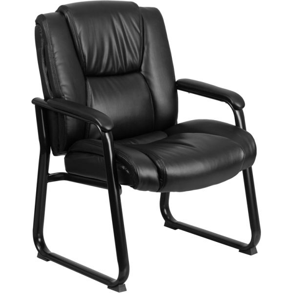 Flash Furniture Black Leather Big & Tall Side Chair