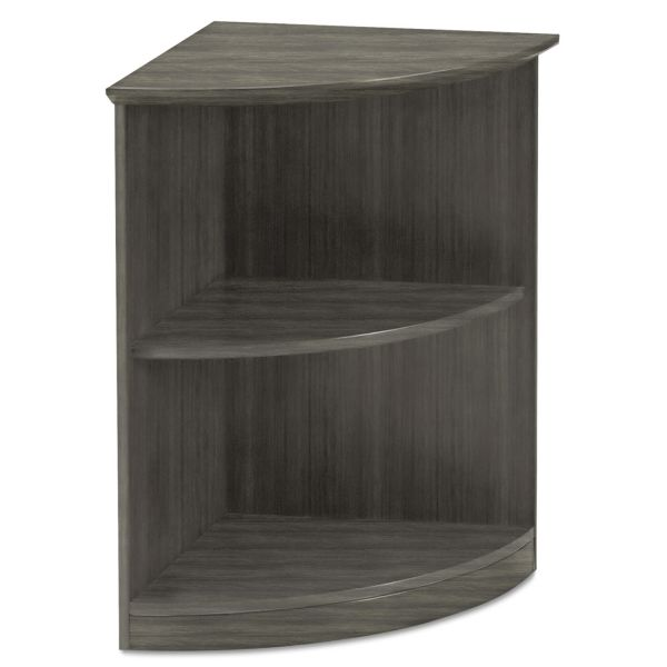 Mayline Medina Series Quarter Round 2-Shelf Bookcase