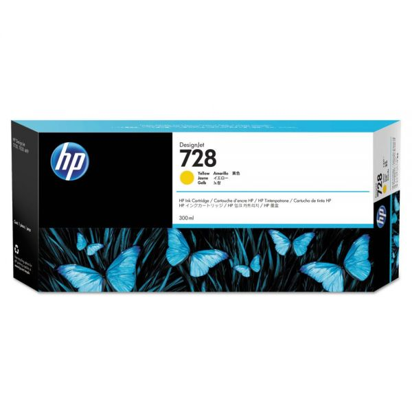 HP 728 Yellow Ink Cartridge (F9K15A)