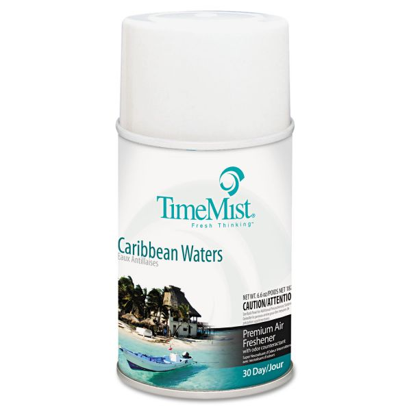 TimeMist Metered Fragrance Dispenser Refill, Caribbean Waters, 6.6 oz, Aerosol