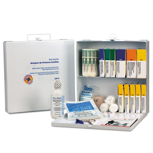 First Aid Only First Aid Station for 50 People, 196-Pieces, OSHA Compliant, Metal Case