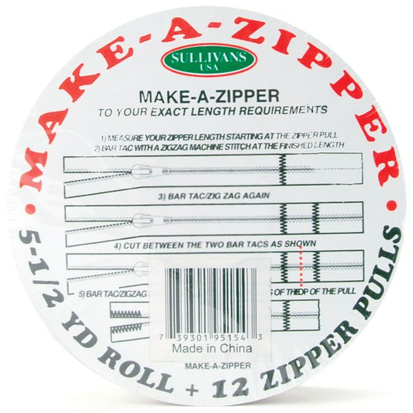 Make-A-Zipper Kit 5-1/2yd