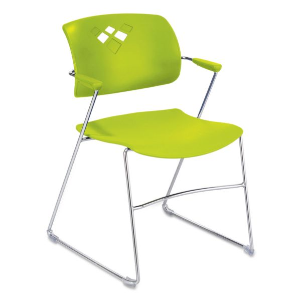 Safco Veer Flex Frame Plastic Stacking Chairs with Arms