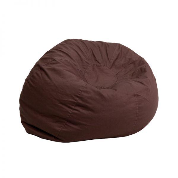 Flash Furniture Small Solid Brown Kids Bean Bag Chair