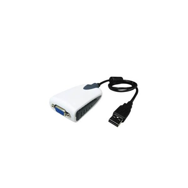 AddOn 20.00cm (8.00in) USB 2.0 (A) Male to VGA Female Black USB Video Adapter