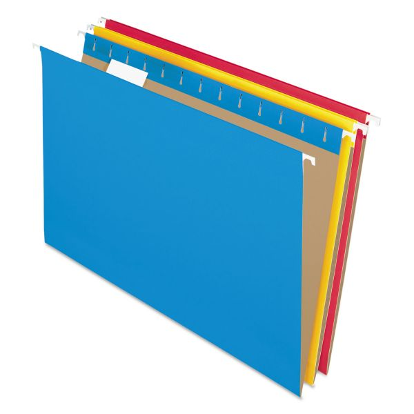 Pendaflex Colored Hanging Folders, 1/5 Tab, Legal, Assorted Colors, 25/Box