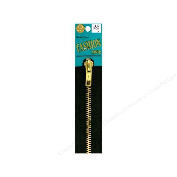 Fashion Metal Brass Closed Bottom Zipper