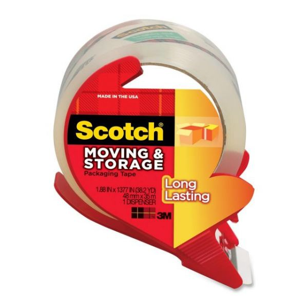 """Scotch Long Lasting 2"""" Packing Tape with Dispenser"""
