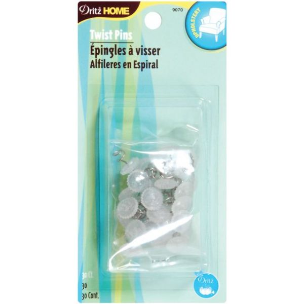 Upholstery Decorative Twist Pins 12mm 30/Pkg
