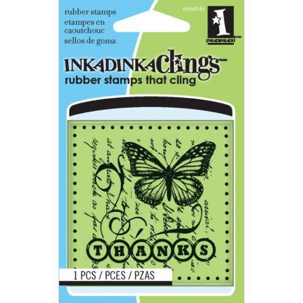 "Inkadinkado Cling Mini Stamp 2.25""X2.25"""