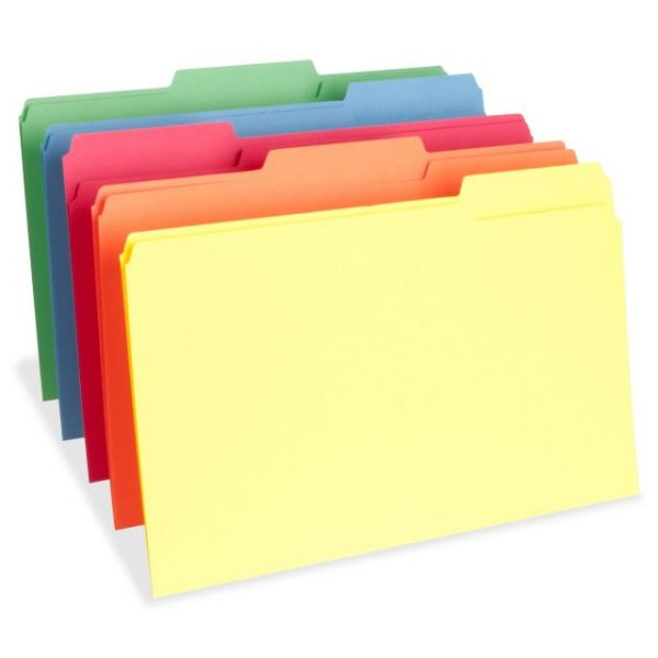 Business Source Top Tab Colored File Folders