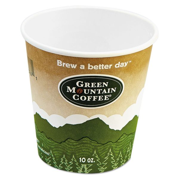Green Mountain Eco-Friendly 10 oz Paper Hot Cups