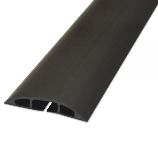 "D-Line Light Duty Floor Cable Cover, 72"" x 2 1/2"" x 1/2"", Black"