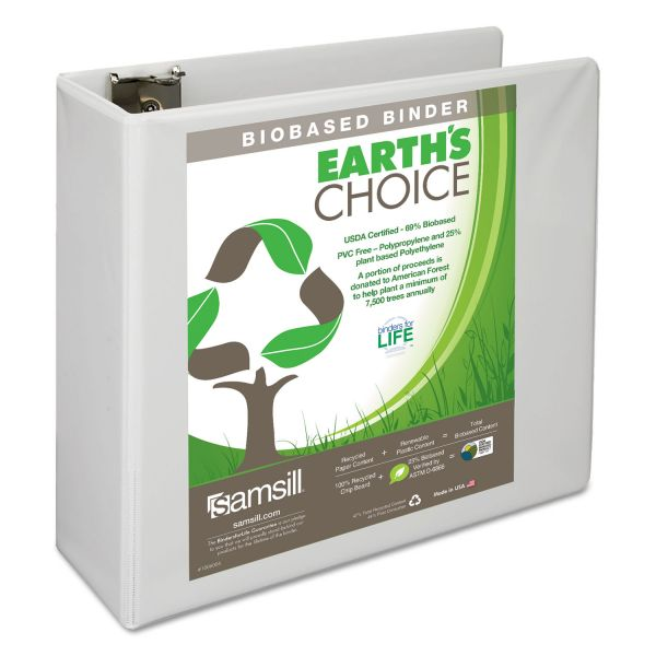 "Samsill Earth's Choice 4"" 3-Ring View Binder"