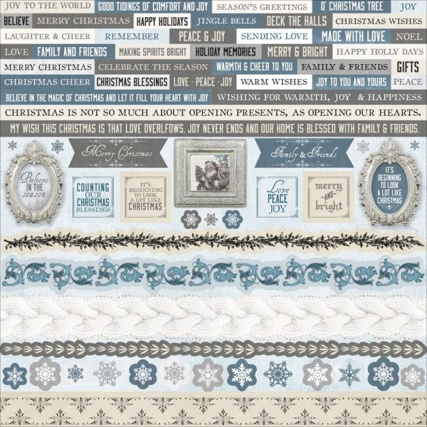 """Frosted Cardstock Stickers 12""""X12"""""""