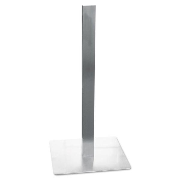 Mayline Hospitality Table Square Pedestal Base, 19-3/4 x 19-3/4 x 41, Stainless Steel