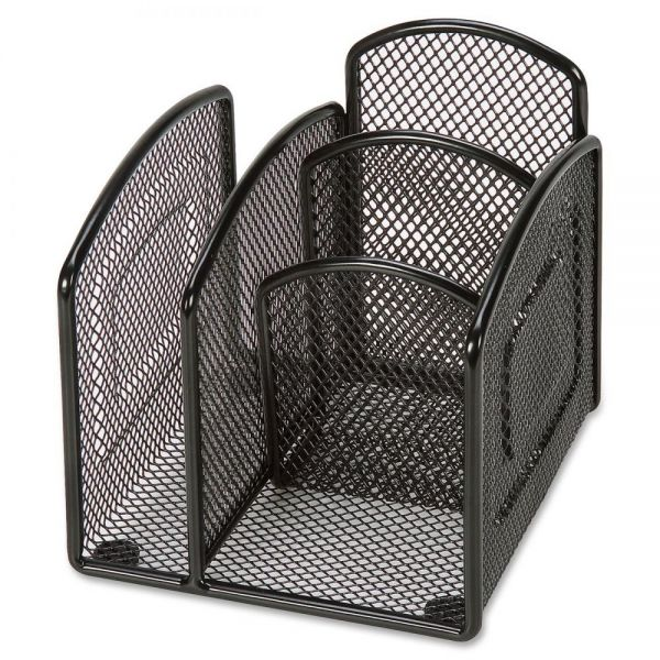 Lorell Mini Steel Wire Mesh Desktop Organizer
