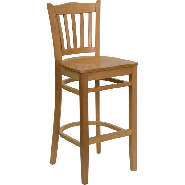 Flash Furniture HERCULES Series Vertical Slat Back Wooden Barstool
