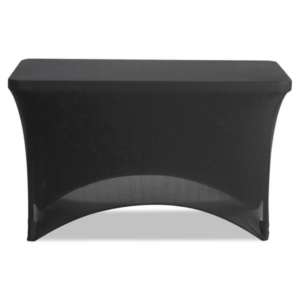 "Iceberg Stretch-Fabric Table Cover, Polyester/Spandex, 24"" x 48"", Black"