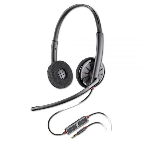 Plantronics Blackwire C225 Binaural Over-the-Head Headset
