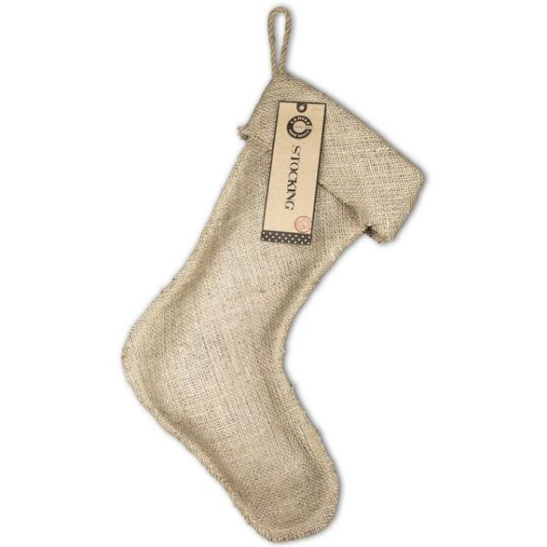 "Burlap Large Stocking 11""X17"""