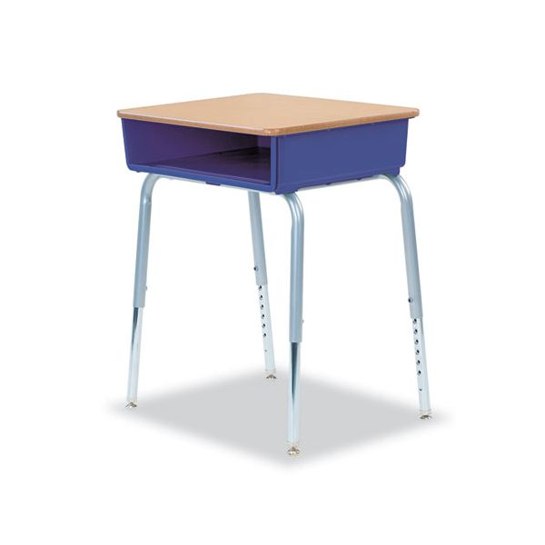 Virco 785 Open-Front Student Desks with Purple Iris Bookbox, 2/Carton