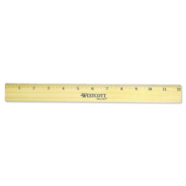 Westcott Double Metal Edge Wood Ruler